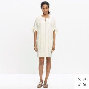 Madewell shift dress cream stripe